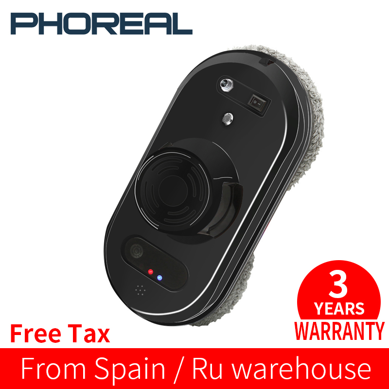 PhoReal FR-S60 Window Cleaning Robot High Suction Electric Window Cleaner Robot Anti-falling Remote Control Robot Vacuum Cleaner title=