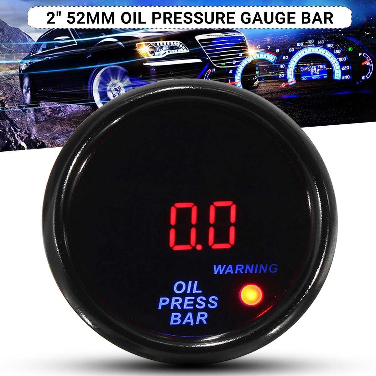 Blue Digital Fuel Oil Pressure Gauge 10 bar//150 PSI