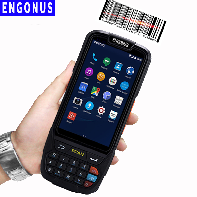 Laser Light Scanning Pda 4g Network Bandheld Android Scanner Mini Scanner Nfc Portable Data Collector Rfid New Pda