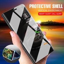 Luxury Mirror Clear View Smart Flip Case Xiaomi Redmi 6 6A Note 5 Pro Mi8 SE Cover Redmi Note 5A Prime Case Cover