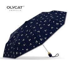 Guarda das mulheres Flores Marca de Protetor Solar Anti UV Umbrella Chuva  Mulheres Automáticas Olycat Parasol Fêmea Guarda-chuva. e073b5f2ed