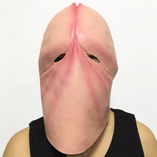 Buy Cosplay Halloween Costume Dick Head Mask Latex Penis Tricky Prank Party Prop Art