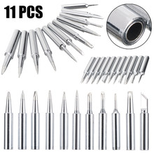 11pcs Lead Free Welding Tips Soldering Screwdriver Iron Tip Replacement Parts for Hakko 900M/933/936 Soldering Station(China)