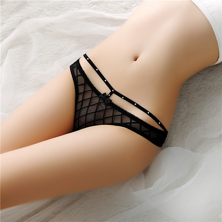 7color Gift beautiful lace leaves Women's Sexy lingerie Thongs G-string Underwear Panties Briefs Ladies T-back 1pcs/Lot  sf113(China)