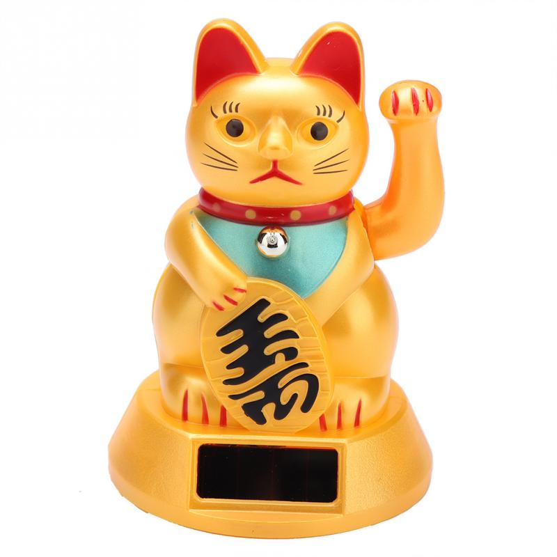 Car-Decor Home-Decoration-Accessories Feng Shui Waving Wealth Hand-Bring Solar-Powered title=