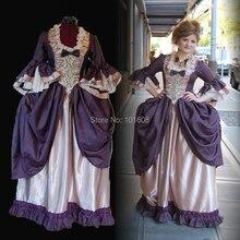 Eras Purple Civil War Victorian Ball Gown Southern Belle Halloween Gothic  Cosplay DRESS Colonial b965e5516616