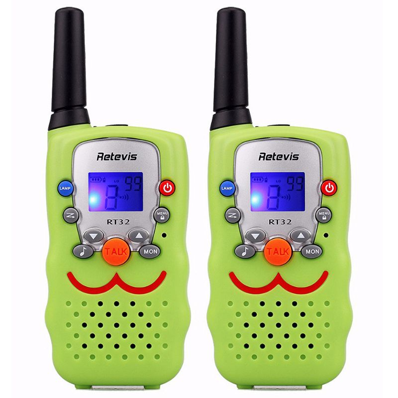 RETEVIS 2 pcs Children Walkie Talkie Kids Radio RT32 0.5W 8/22CH Portable Wireless Radio Gift Two Way Radio Communicator A9113