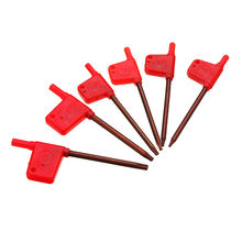 DANIU 10pcs T6/7/8/10/15/20 Torx Spanner Key Small Red Flag Screwdriver Tool For CNC Tools Holder(China)