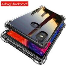 Explosion-proof Transparent Phone Case Xiaomi Mi8 Lite pocophone F1 8SE Mi5X A1 Max3 Redmi note6 6A 6Pro 6 S2 Clear Cover