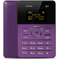 AIEK/AEKU Q1 1.0 inch Ultra-thin Card Phone FM Audio Player Sound Recorder Calendar Calculator