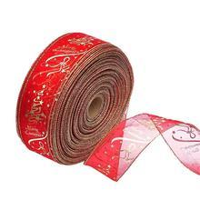 Red Christmas Satin Ribbon Xmas Silk Ribbon Decoration Gift Wrapping Ribbons