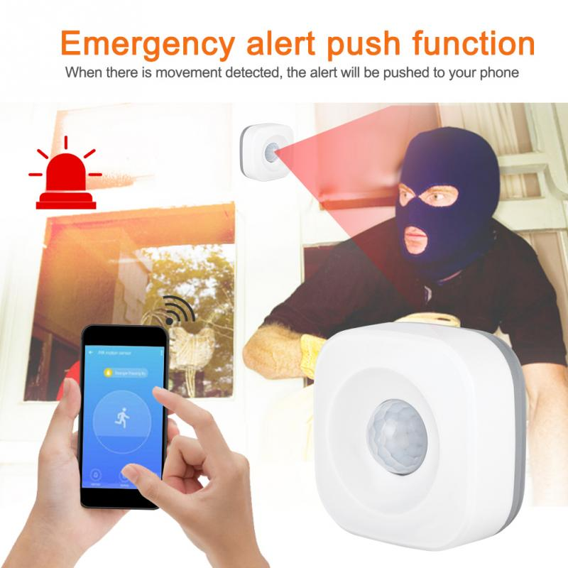 WIFI Smart Home PIR Motion Detection Sensor Wireless Security Burglar Alarm Sensor(China)