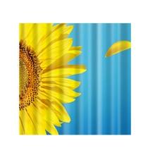 180 X 180cm Extra Wide Sunflower EVA Bathroom Eco Friendly