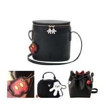 Cute Cartoon Mickey Mouse Minnie 봉 제 Backpack Soft Shoulder bag Women Handbag 어린이 School 백 Girls 생일 Gifts(China)