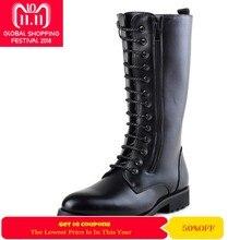 Zorssar  2018 nueva rodilla alta botas militares botas PU cuero hombres  botas de vaquero moda masculina Motocycle botas 4ea0d4fe7cf1f