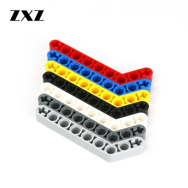 BLACK x5 NEW Lego Technic Liftarms THICK 1x9 1 x 9 Bent 6-4
