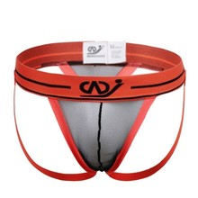 Buy WJ Transparent Mesh Sexy Jockstrap Gay Men Underwear G String Thong Sheer Mens Thongs G Strings See Male Jock Strap