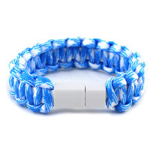 usb charging bracelet for iphone handmade men braided rope outdoor bracelet for women femme christmas gifts for boyfriend