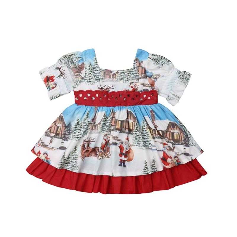 ZEFOTIM Women Merry Christmas Santa Claus Plus Size Evening Party Christmas Dress