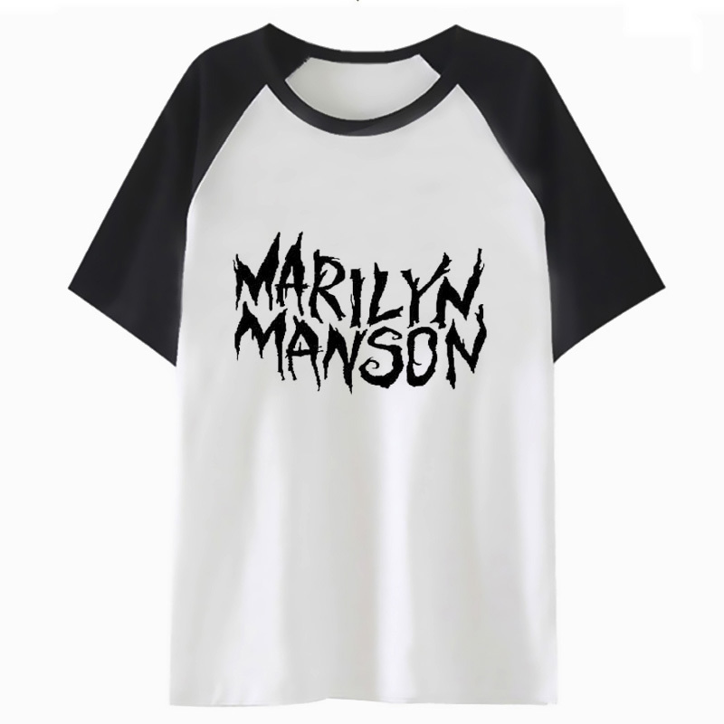marilyn manson t shirt men tee top male streetwear harajuku tshirt funny for t-shirt hip clothing hop I3711