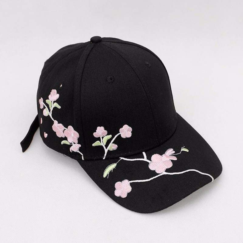High Quality Unisex Cotton Outdoor Baseball Cap Plum embroidery Embroidery Snapback Fashion Sports Hats For Men & Women Cap(China)