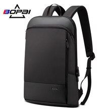f492ffa0c700 2019 New Designed Mens Light Backpack Thin Laptop Bag 15.6 inch Solid Black  Bagpack Men Korean Backpack Brands mochilas