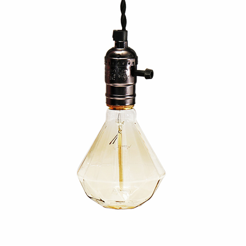 Led Bulbs & Tubes Claite Retro Edison Light Bulb E27 40w G95 Warm White Diamond Vintage Edison Bulb Tungsten Lamp Ac220-240v
