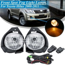 popular hilux front light buy cheap hilux front light lots fromfor toyota hilux 2008 2009 2010 2011 replacement 1 pair car 12v front bumper fog light lamp kit with harness bulb switch styling