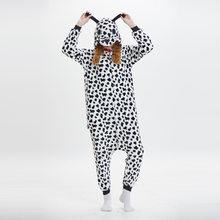 Животных спекл собака комбинезоны пижамы косплэй Kigurumi пятно собака  Costums пижамы карнавальный наряд зима мультфильм комбинезон 5c992124b82f5