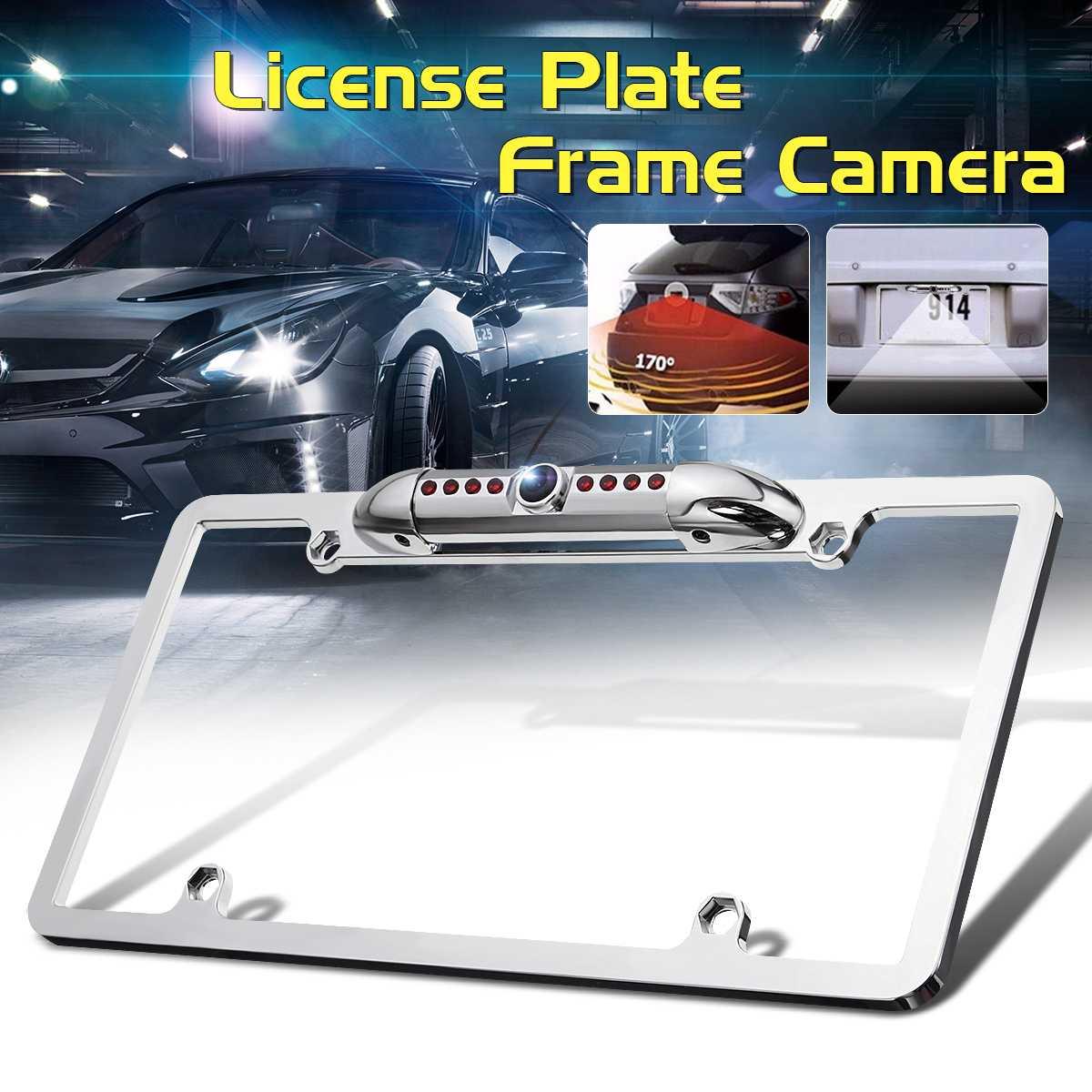 Car Rear View Backup Camera 8 IR Night Vision  License Plate Frame Mount CMOS