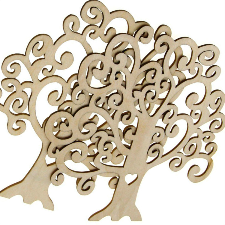 Simply Creative Christmas Tree Wooden Shape Decoration Wood Blank Craft Trees