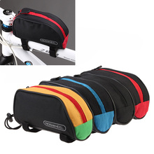High Quality 1L Roswheel Outdoor Mountain Bicycle Cycling Frame Front Top PVC Tube Bag Bike Pouch 12654 Red/Blue/Black/Yellow