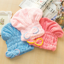 Women Quick Dry Microfiber Turban Hair Hats Towels Bathing Shower Cap Head Wrap Towel Bathing Tool