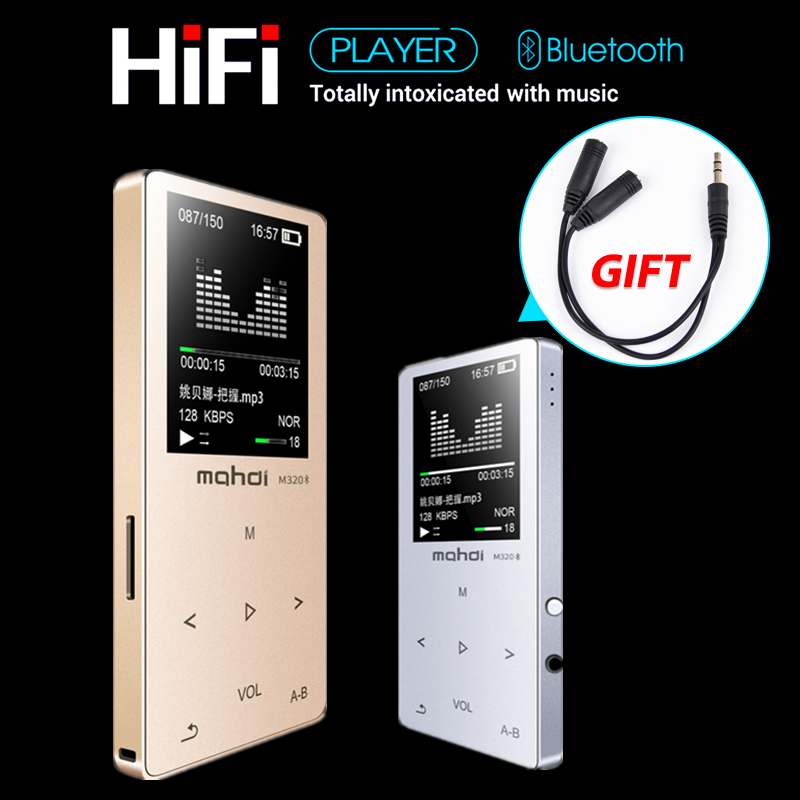 HIFI Lossless Bluetooth 4.0 MP3 Player Recorder FM Video E-book 8GB Radio Sport Wireless Music Player Support OTG Link<br>
