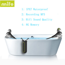 Newest Mifo I2 Bluetooth 4.1 Headset 8GB Recording MP3 Player Earphone IPX7 Waterproof Wireless Necklace Headphones HIfi Stereo(China)