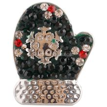 10PCS/LOT Snap Charm Holiday Interchangeable Jewelry 20MM Ginger Snap Button Rhinestone Christmas Decoration DIY charms KC4025