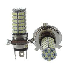 AUTO 2PCS Lighthouse Lamp Bulb AUTO H4 102 LED 3528 SMD Hyper Light DC 12V White