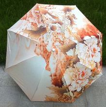 Tree Peony Fall Autumn Color Chinese Ink Painting Sun Rain Art Umbrella 3 Fold Anti Uv Fashion For Impressionism Free Shipping