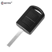KEYYOU 2 Button Uncut Blade Remote Car Key Shell for Vauxhall Opel Corsa Agila Meriva Combo Car Key Case(China)