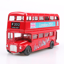 New London bus, Alloy double decker bus,with pull back open door design, design for londoners. Metal bus free Shipping