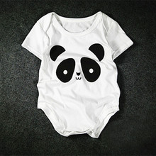 2017 Summer Cute Cartoon Panda Baby Romper Short Sleeve Rompers Newborn Baby Clothing Body Suit Infant Toddlers