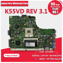 Original K55V K55VD Motherboard for Asus K55VD r500vd REV3.0/3.1 Mainboard GT610 2G PGA989 100% Tested Free Shipping(China)