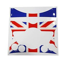2-piece Red/Blue Union Jack Stickers For 2007-up MINI Cooper Center Console Dashboard
