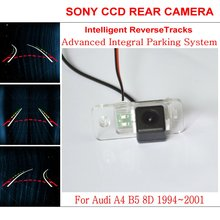 Lyudmila Car Intelligent Parking Tracks Camera FOR Audi A4 B5 8D 1994~2001 HD CCD Night Vision Reverse Camera / Rear View Camera(China)