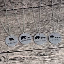 Creative Mother Plot / Series Baby Speed Sell Mama Bear Coin Pendant Necklace Popular Alloy Jewelry Wholesale Hot New(China)