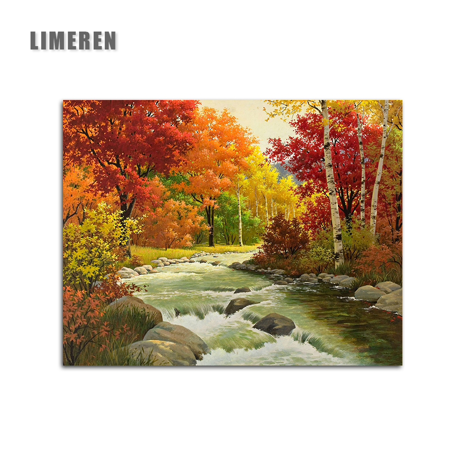 Love Autumn DIY Painting by Numbers Paint by Number Kits Drawing With Brushes Paint Suitable for All Skill Levels 40x50cm
