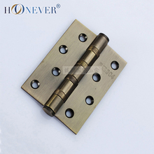2pcs Stainless Steel Hinge Furniture Door Hinge Cabinet Wood Box Cupboard Cold Steel Hinge Bronze Four Inches