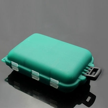 CALOFE Fishing Tackle Box Plastic Waterproof Eco-Friendly Fishing Lure Hook Bait Storage Box 10 Compartments 1PC 10*6.5*3cm