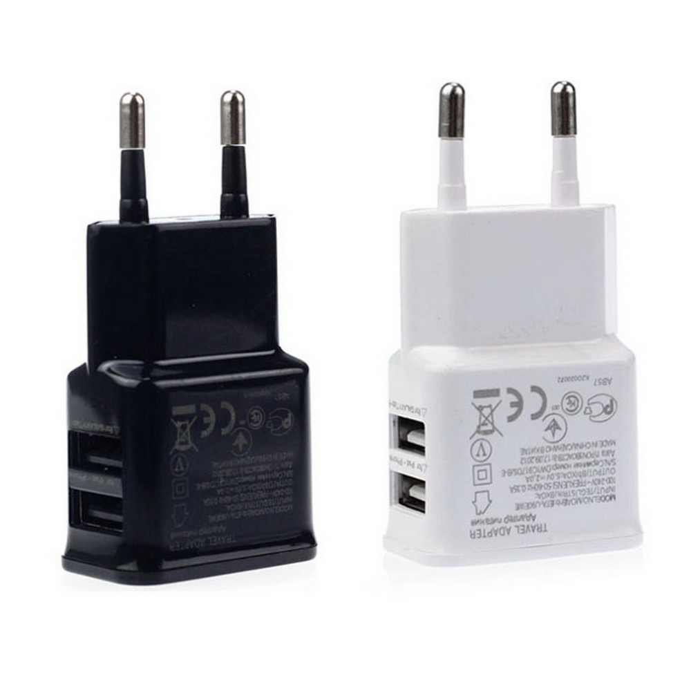 5V 2A EU PLug Wall Charger Universal Mobile Phone Travel Charger Samsung HTC Jiayu Xiaomi LG Dual USB Wall Charger Adapter