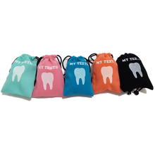 5pcs Dental clinic gift Deciduous teeth storage bag baby primary teeth case milk teeth bag The tooth fairy bag(China)